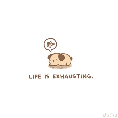 """If only I could just plop down and sleep for 24 hours. >3<"" 