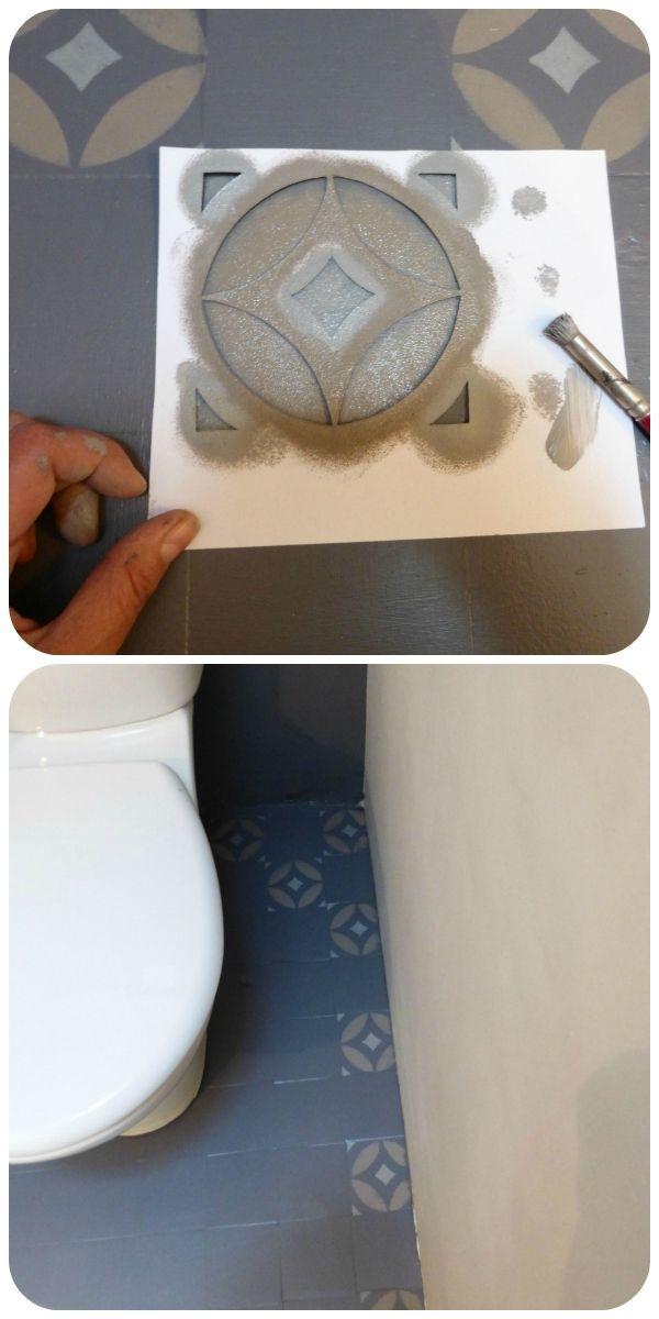 Imitation carreaux ciment pochoir
