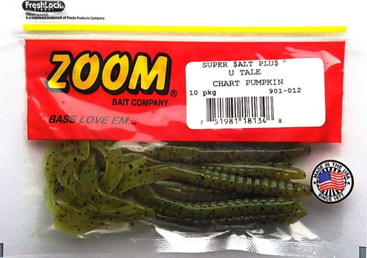 "Zoom Super Salt Plus U Tail 6"" Worms 