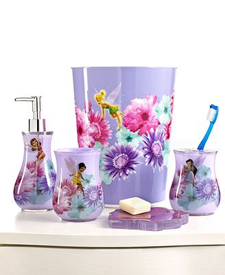 Disney Bath Accessories Fairies Rosey Collection