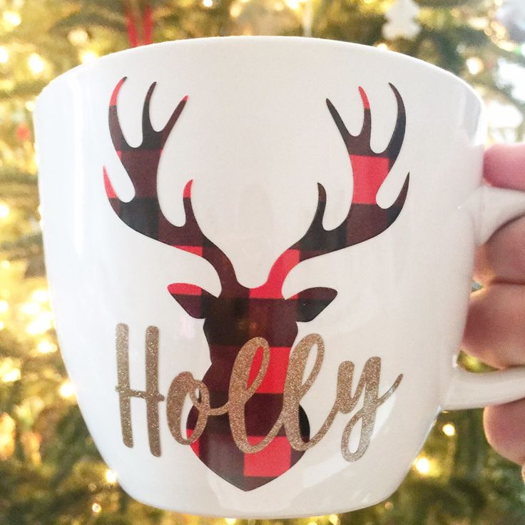 I just loved how this custom mug turned out. What a cute way to express your love for buffalo plaid!