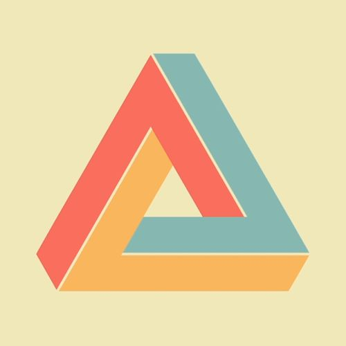 Penrose Triangle (It was first created by the Swedish artist Oscar Reutersvärd in 1934) by Owen Chikazawa
