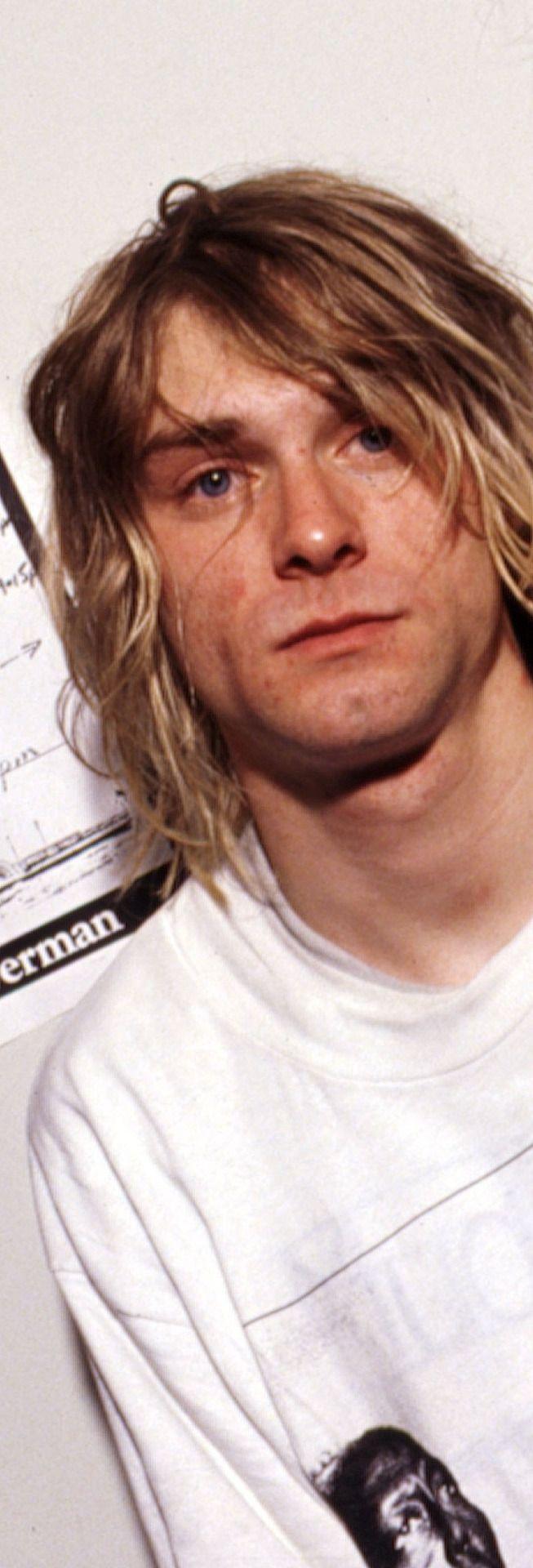 Kurt Cobain, The Astoria backstage, London, UK. 1991