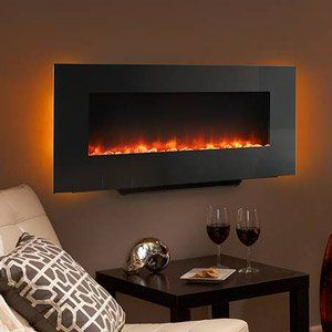 Wall Mount Electric Fireplaces | Hanging Fireplace