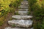 Modern landscaping often incorporates the use of natural features to give gardens character. Some are not only aesthetic, but functional, such as natural steps that lead to another level in the garden. If stairs are not proportioned right, they can be difficult to use. Stick to a time-tested formula for natural stairs -- the same formula of width...