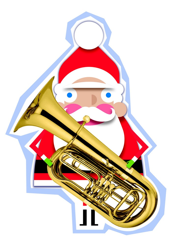 Santa plays the trombone for our marketing