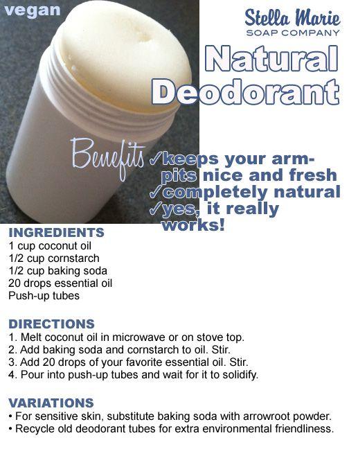 DIY Deodorant Recipe. Yes, it really works!