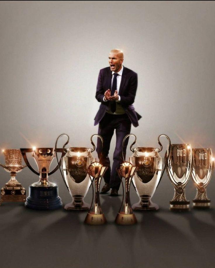 What a two years with @Zidane as coach! Vaya dos años de @Zidane como entrenador!  Champions League 2016  UEFA Super Cup 2016  FIFA Club World Cup 2016  LaLiga 2017  Champions League 2017  UEFA Super Cup 2017  Spanish Super Cup 2017  FIFA Club World Cup 2017