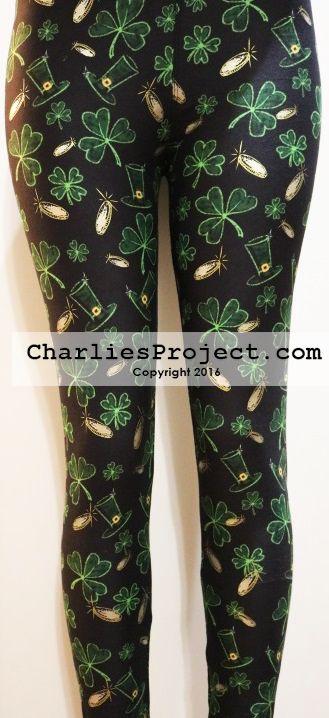 4e3ae225e74dd St. Patricks Lucky Coins Charlies Project Leggings #ShamrockLeggings #Irish  #Leprechaun #Leggings #CharliesProject | st. patty's in 2019 | Shamrock  leggings ...