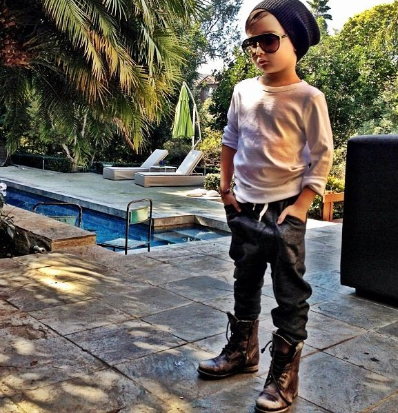 Boys fashion. Slouch beanie. In love with this little boy