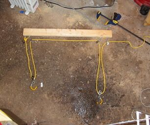 This is a pretty simple and quick way to build a bike hoist that will lift a bike evenly and easily out of your way. The neat trick is that it uses...