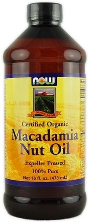 """9. Macadamia Nut Oil - """"Macadamia Nut Oil is nutritious, moisturizing and makes a fab natural heat protectant! This oil not only provides natural UV protection, but it also helps cut drying time so you spend less time drying your hair and using a heat tool. Macadamia Nut Oil has many uses for your hair, skin and nails so it's a great oil to add to your natural beauty routine!"""""""