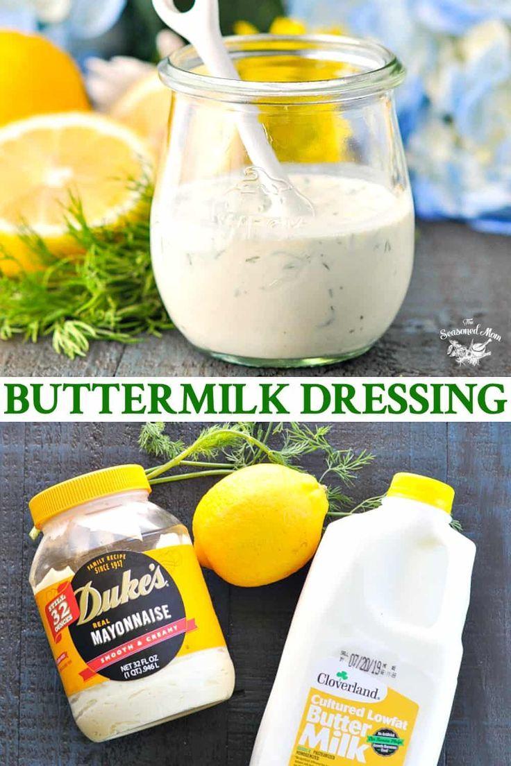 Buttermilk Salad Dressing Recipe In 2020 Creamy Salad Dressing Buttermilk Salad Dressing Salad Dressing Recipes Homemade
