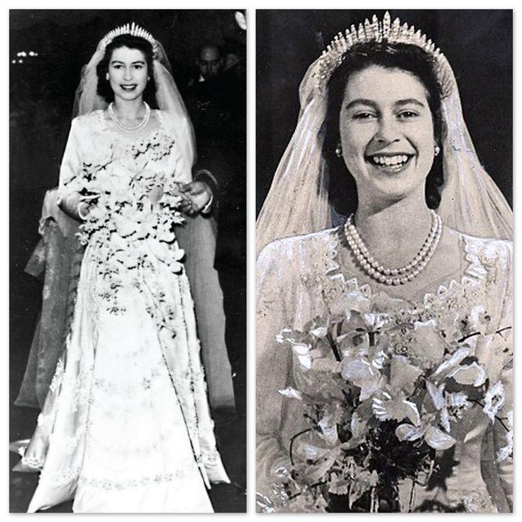 Queen Elizabeth Wedding Gown: Queen Elizabeth Wedding Photos