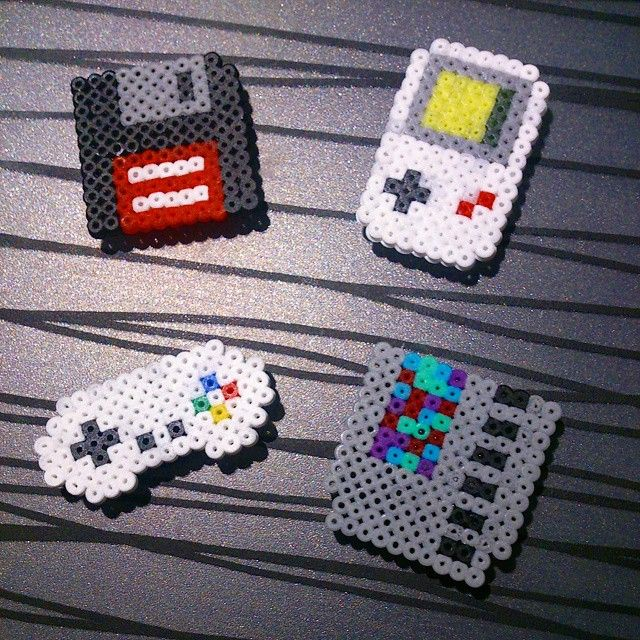 Geek magnets hama mini beads by omglinno