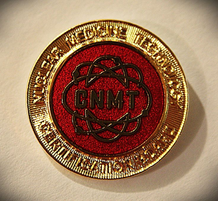 CNMT gold pin. Certified Nuclear Medicine Technologist pin