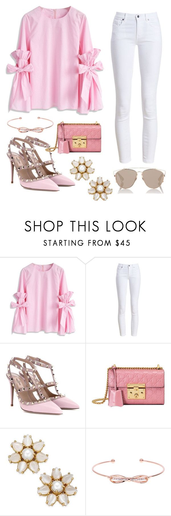 """Casual pink"" by fificn ❤ liked on Polyvore featuring Chicwish, Barbour, Valentino, Gucci, Kate Spade, Ted Baker and Christian Dior"
