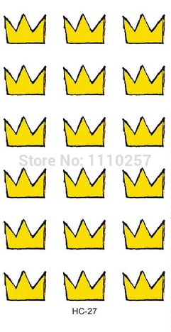 Find More Temporary Tattoos Information about Cute Yellow King Crown Temporary Tattoos,Eco friendly Kids Tattoos  50sheets,High Quality tattoo inks tattoo supplies,China tattoos professional Suppliers, Cheap tattoo trends from Shining Fish Store on Aliexpress.com