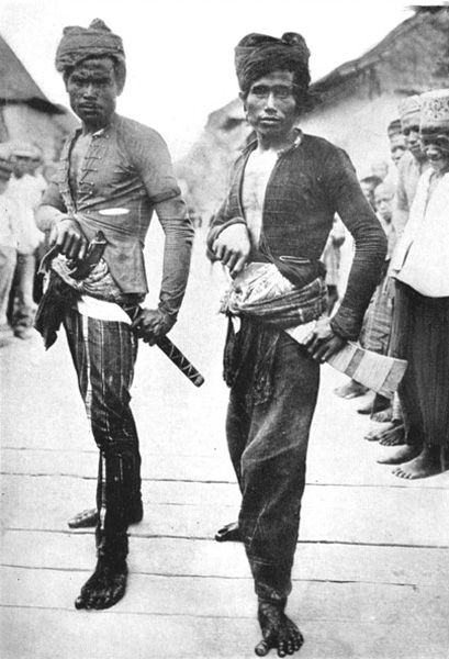 Moro Kris Men on the Island of Jolo, Philippines. Late 19th century to early 20th century. Check that toe out.