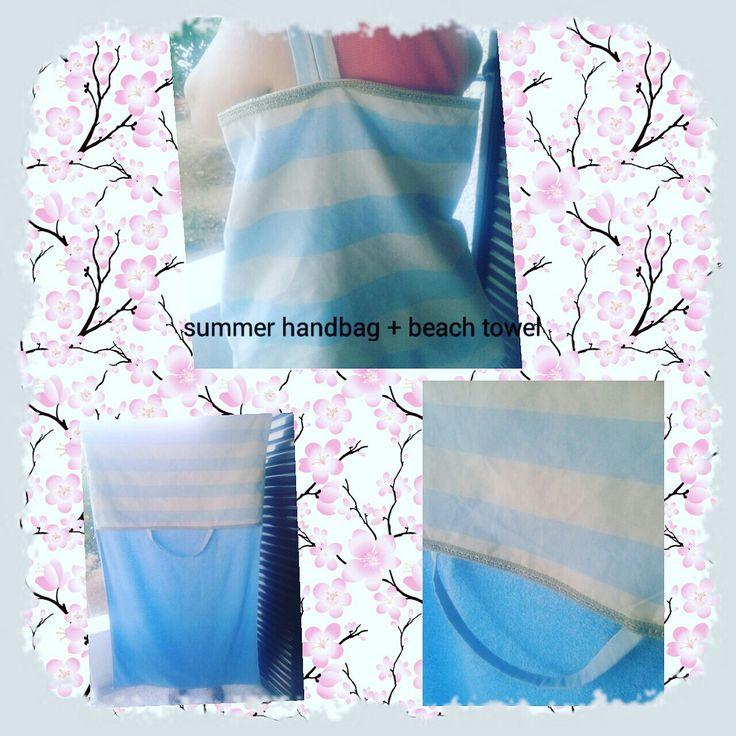 Handmade bag turns into beach towel!