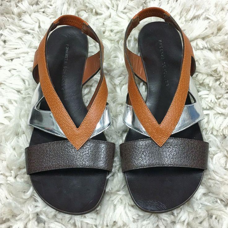 Proenza Schouler Brand New Elastic Back Multi Coloured Flat Sandals Size 36 $200