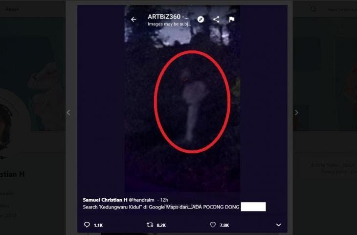 Menakjubkan 30 Foto Pocong Di Google Maps Heboh Penampakan Seram Muncul Di Google Maps Kedungwaru Download Fotonya Viral Ini C Google Gambar Hantu Gambar