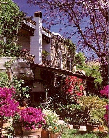 Ajijic village homes.  San Miguel de Allende, MEXICO.
