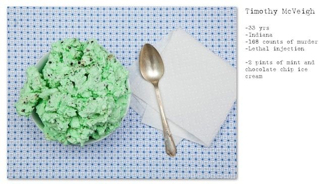 Timothy McVeigh´s last meal: mint ice. By Henry Heargraves