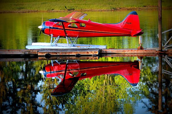 Red Float Plane - Courtenay BC