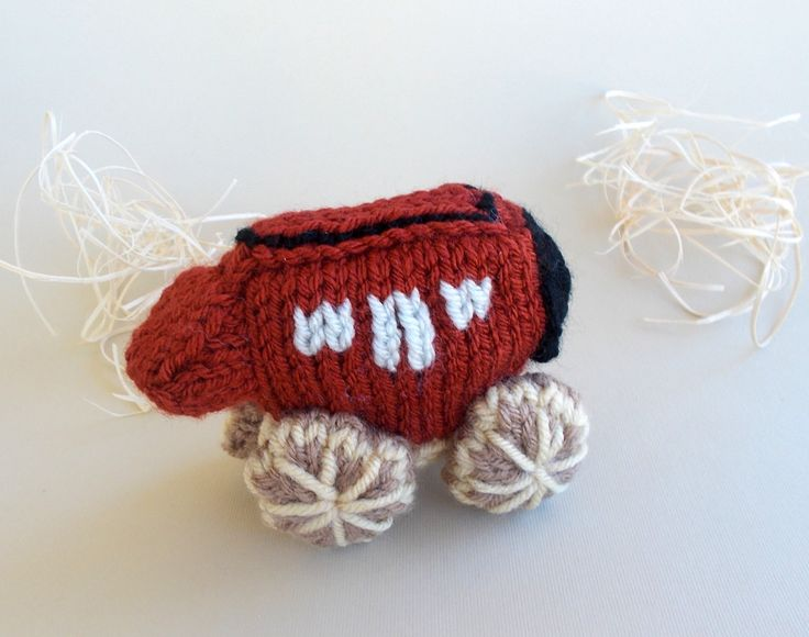 Miniature Stagecoach Knitted Stuffed Toy - Western Ornament - Southwestern Decor - Kids Room Decor - Model Vehicle - Unique Holiday Ornament by DrFrankKnits on Etsy