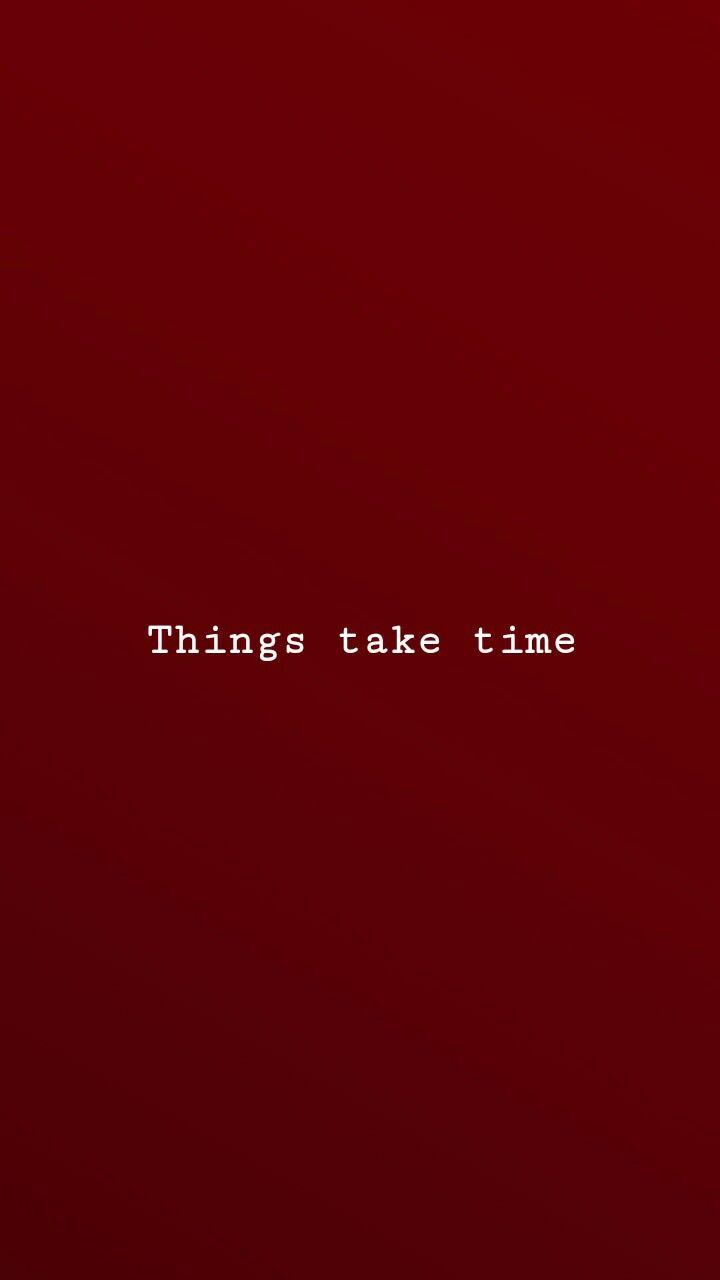 As Coisas Levam Tempo Quote Aesthetic Red Quotes Words