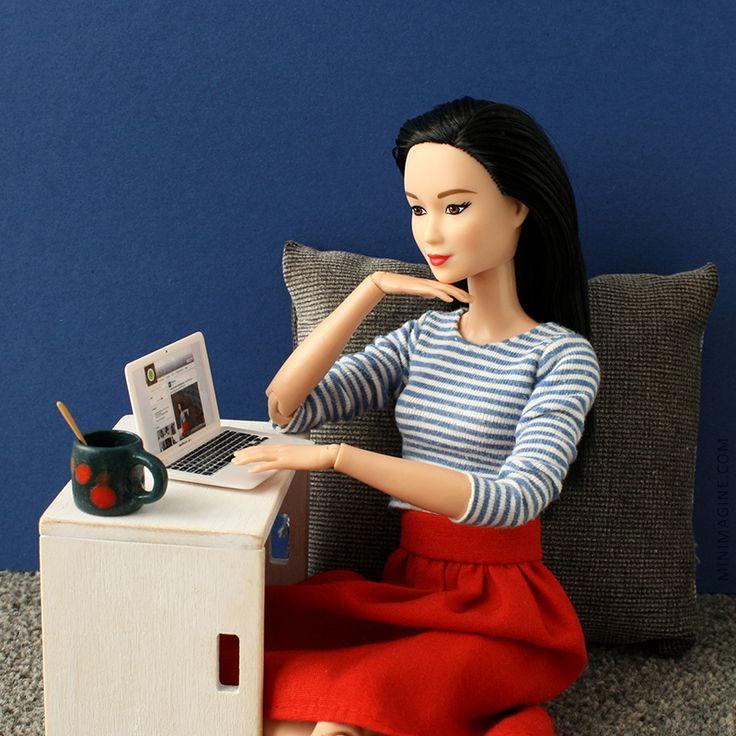 MINIMAGINE * for dolls: SOCIAL MEDIA #barbiedoll #dollfurniture #furniturefordoll #barbiemadetomove #madetomovebarbie #barbiemtm #facebook #dollcollector #barbiecollector