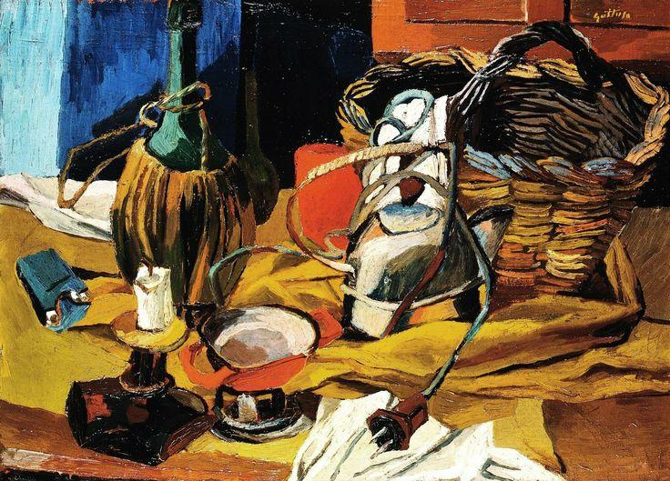 Renato Guttuso (1912‑1987) Fiasco, candela e bollitore, 1940-1941