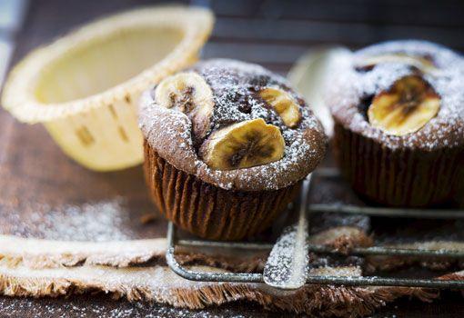 Muffins de chocolate y pl�tano