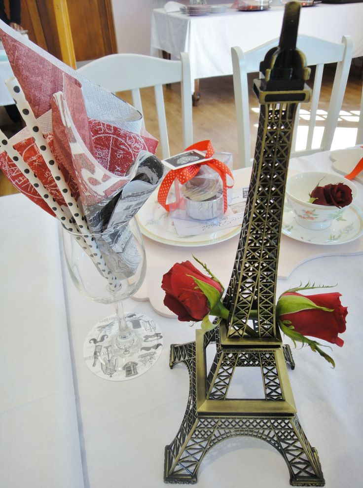 Mini Eiffel Towers on the Table