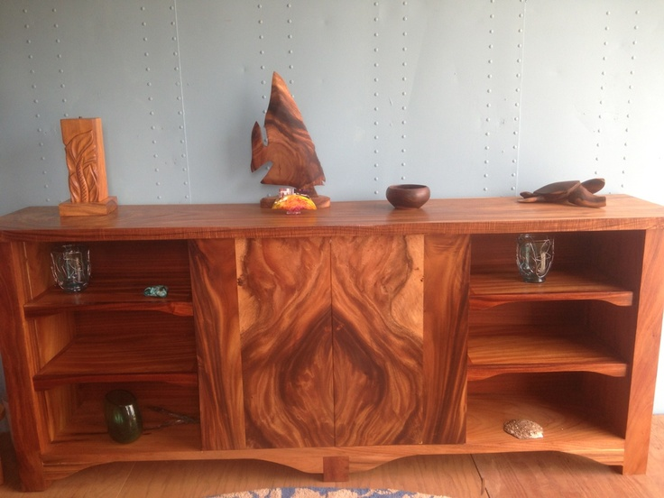 Kini @ WoodWorkingHawaii   Solid Wood Furniture   Tropical Hardwoods    Monkey Pod   Koa: WoodWorkingHawaii Entertainment Center Bookmatched With  Under ...