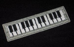 Handmade Piano Keyboard Bookmark using Plastic Canvas - NEW for sale at www.bookwormbargains.ecrater.com