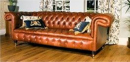 Chesterfield Chatsworth Leather Sofa UK Manufactured, Traditional Sofas