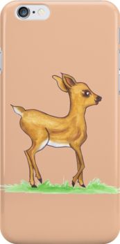 Fawn iPhone skin  A little roe deer from the enchanted forest is here to explore the world.  iPhone Cases & Skins fawn, doe, deer, traditional painting, watercolor, nursery, lullaby, kids, fairy tale, baby deer, baby, roe deer, roe, childrens, cute, nice, forest, enchanted, woodland