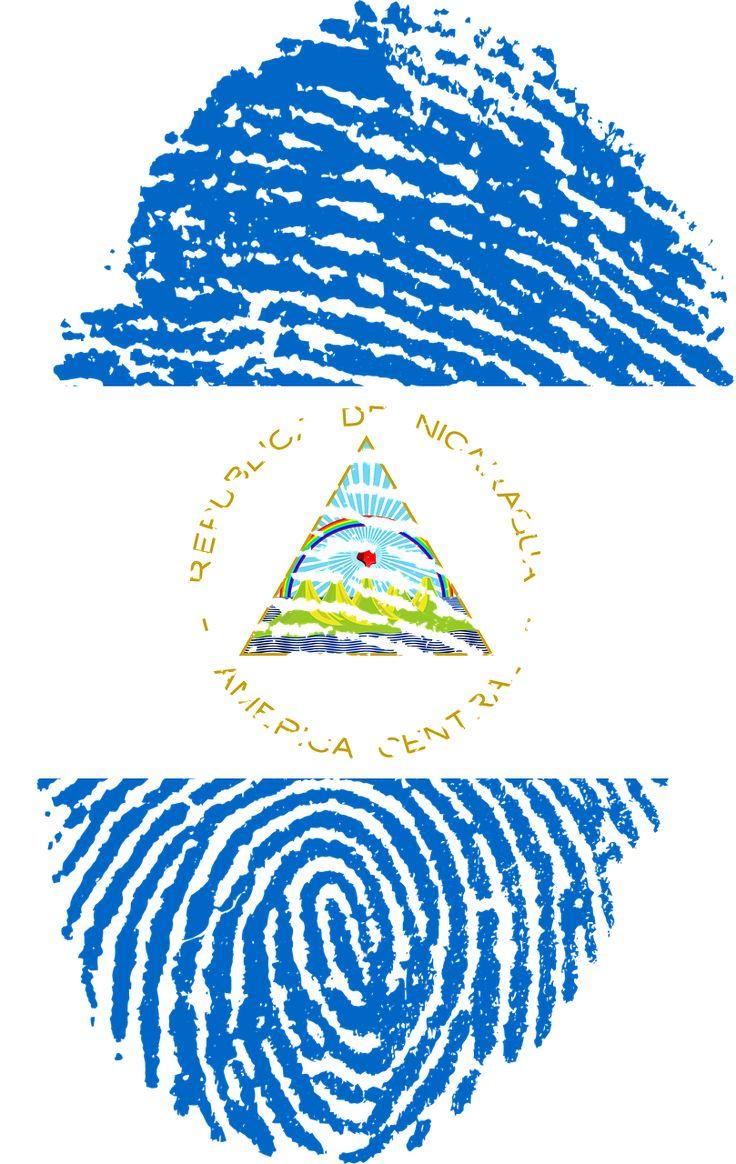 Nicaragua Flag Fingerprint transparent image