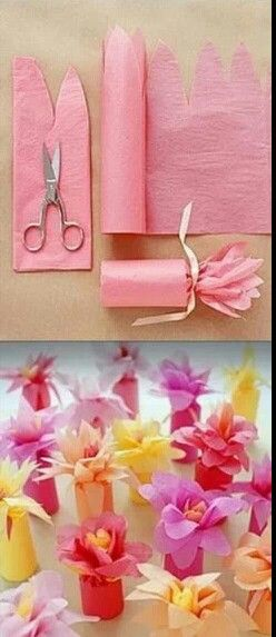 Using cardboard tubes to place and give away..small gifts