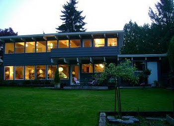 Mid century modern post and beam maple ridge bc c 1956 for Mid century post and beam house plans