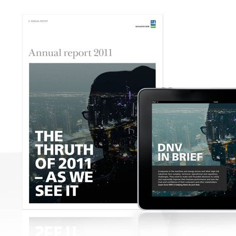 Annual report and a special application from Fasett and DNV – available worldwide.
