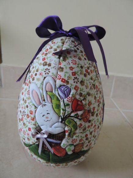 Bunny húsvéti tojás virágok 17x11.5 cm