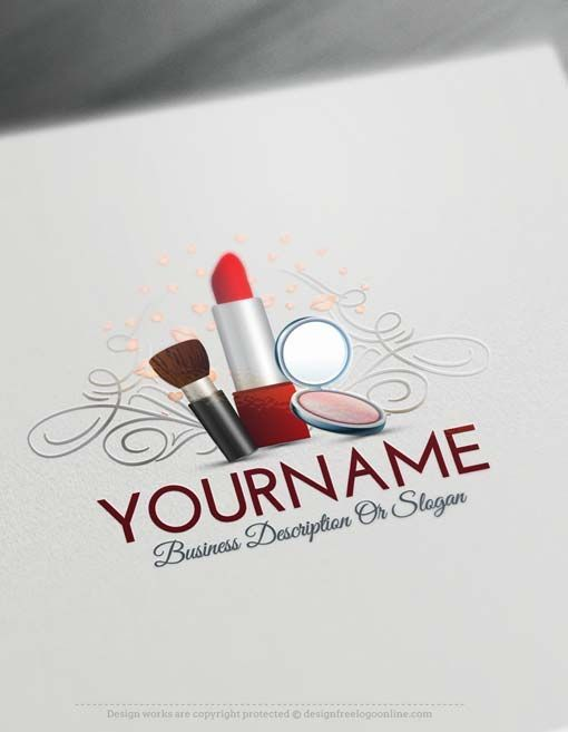 Create Makeup artist logo design with our Free Logo Creator Without any obligations, Create Makeup artist logo design using the Free Logo Maker. In real time, use the logo creator software and design your own Makeup logos.   Branding wide range of stylish businesses with our Online Logo designer Makeup logo Designs with Lipstick image, used for branding a wide range of Fashion and beauty businesses. Lipstick Logos