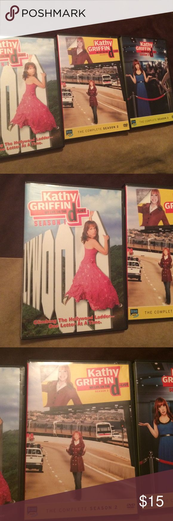 Kathy Griffin DVD sets Season 1 and 2 and 3.dvd sets of Kathy Griffin Accessories