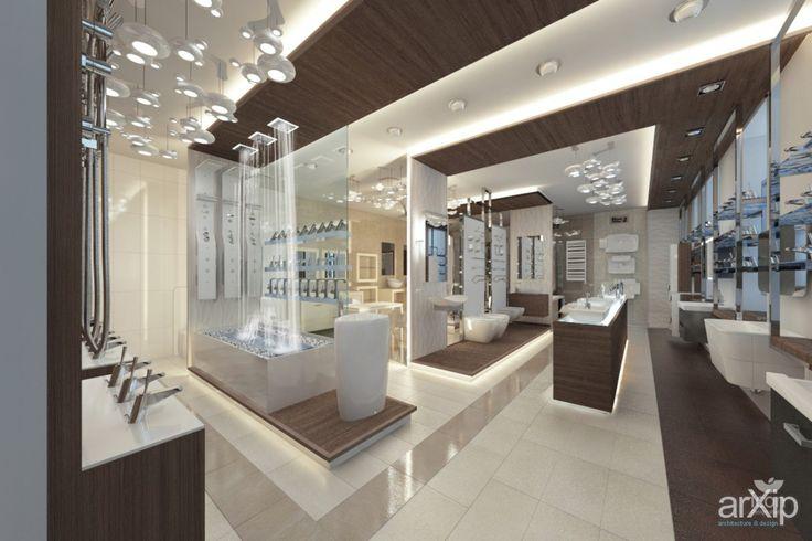 Интерьер салона сантехники: интерьер, магазин, супермаркет, минимализм, 50 - 80 м2, торговый зал #interiordesign #shop #supermarket #minimalism #50_80m2 #salesroom arXip.com