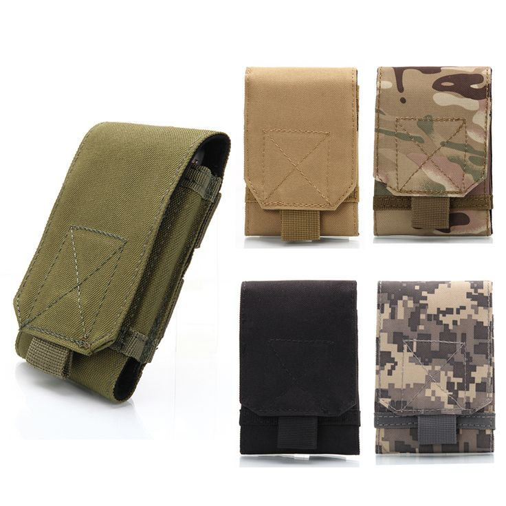 5.5-6.0 inches Holster MOLLE Army Camo Camouflage Bag Hook Loop Belt Pouch Holster Cover Case For Mobile Phone Smartphone Pouch