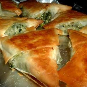 Greek Spinach Triangles   Food'n Drink Recipes
