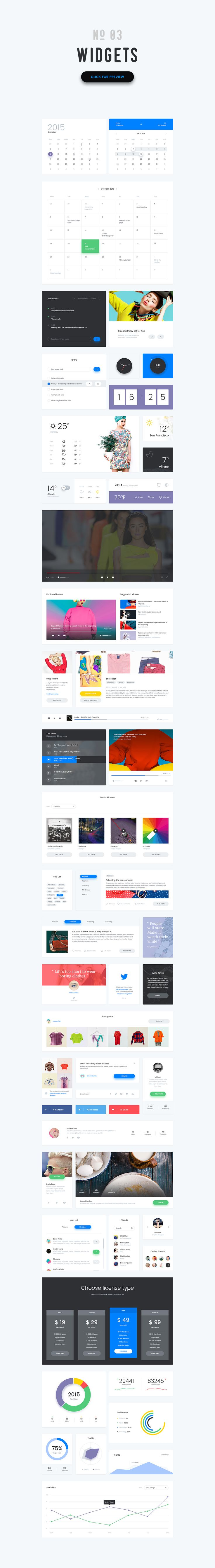 -50%- Vivid - Soft Material UI Kit by The UI Shop on Creative Market